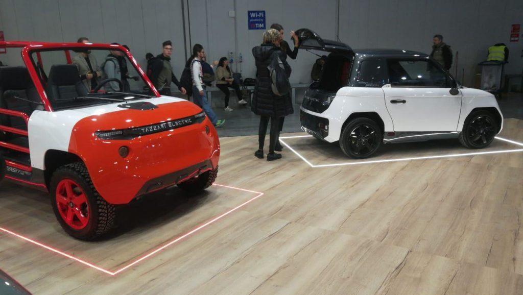 Электромобили Tazzari Zero 4 OPENSKY на выставке EICMA MOTO в Милане 2019