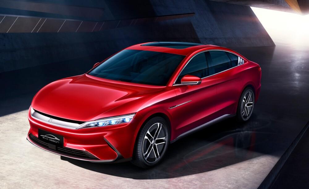 Ожидается, что первым электромобилем с новым аккумуляторным блоком станет флагман бренда — BYD Han EV.