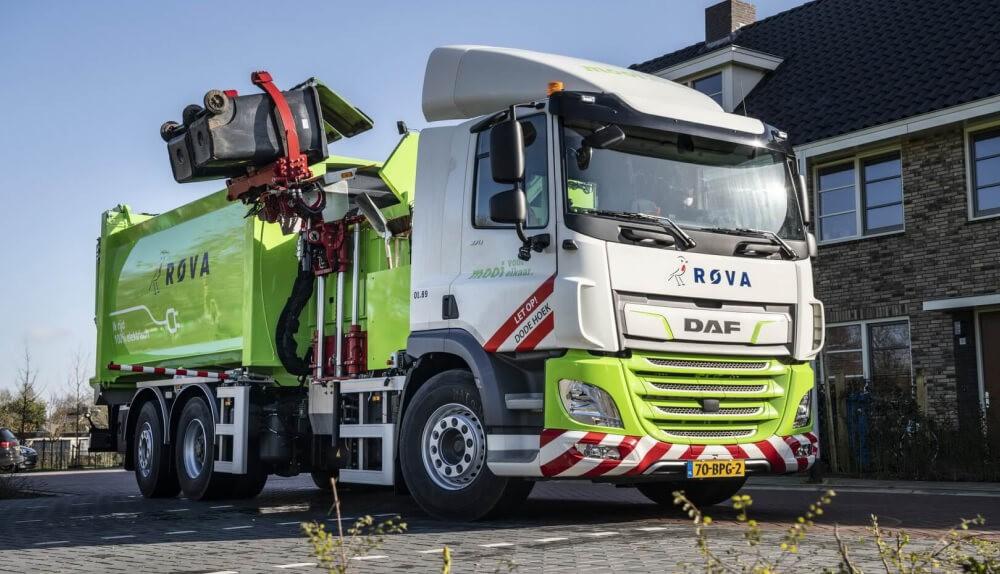 Электрические грузовики DAF CF Electric 6×2 на дорогах Нидерладов