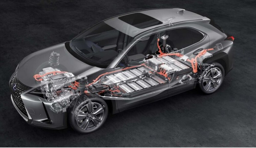 В то время как все исследования последних лет говорят о залоге долговечности батареи при использовании водяной системы охлаждения. В Lexus UX 300e пошли своим путем и применили воздушное. Так как на попытку сэкономить не очень похоже, придется поверить в уникальную систему обдува батарейного блока, в сочетании с кондиционером по эффективности не уступающую водяному.