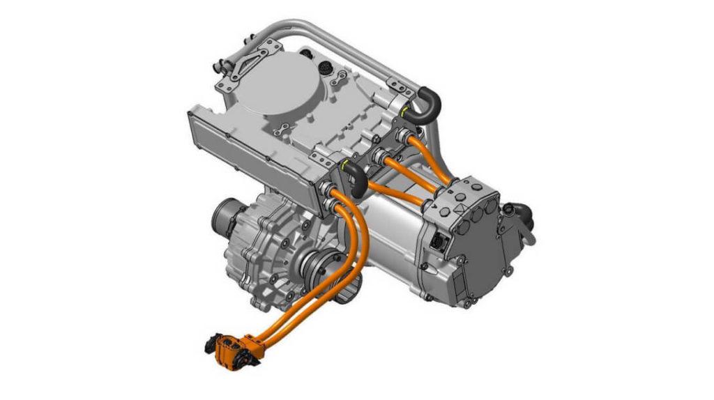 У истоков концепции при создании электрической трансмиссии High Power Density стояла компактность. Потому вес комплекта, в основе которого бесщеточный мотор с постоянными магнитами, всего 49,5 кг. Номинальная мощность составляет 80 кВт (109 л.с.) и крутящий момент 136 Н*м.
