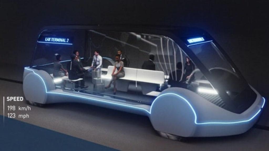 Изначально в The Boring Company рассчитывали на платформу Tesla Model Y, в качестве основного транспорта. Но пропускная способность 1200 человек в день диктует свои правила, потому необходим пассажирский фургон вмещающий до 12 человек вместе с багажом.